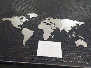 Wereldkaart - RVS